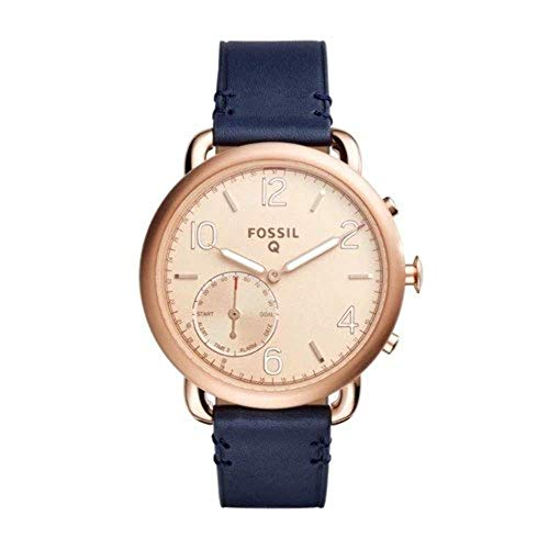 Fossil Hybrid Smartwatch - Q Tailor Dark Navy Leather