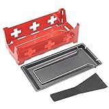 Anti-aderente Formaggio Raclette Rotaster Teglia Stufa Resistenza Alle Alte Temperature Portatile Utensile Cucina per la Casa con Piano Cottura Rosso e Spatolaper Grigliare (#1)