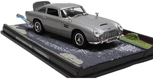 Modelo de Coche uno y Cuarenta y Tres Aston Martin DB5 de la película 007 Escopeta Modelo de Coche de colección del Regalo del Regalo del Muchacho/Muchacha (Color: Gris, Tamaño: 10,5 cm * 4 cm * 2,8