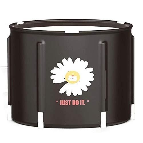 THMY Portable Folding Bathtub Freestanding Bath Bucket Adults Family Bathroom SPA Tub Easy to Install and Drain, Best Bath Tool for Home, Camping, School(58x58cm)