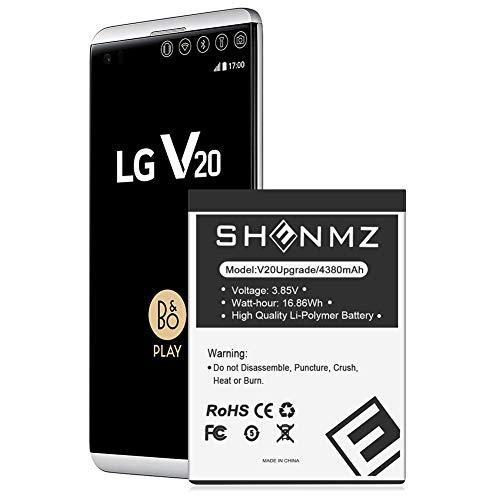 SHENMZ LG V20 Battery, [4380mAh] New Upgraded Replacement Battery for LG BL-44E1F, LG V20 Extended Battery for LG H910 H918 V995 LS997 Phone /V20 BL-44E1F | LG V20 Spare Battery [18 Months Service]