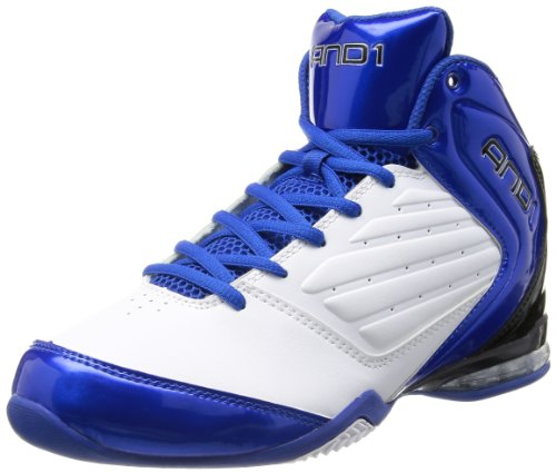 AND 1 Men's Master 2 Mid White/Royal/Black Basketball Shoe - 9 D(M) US