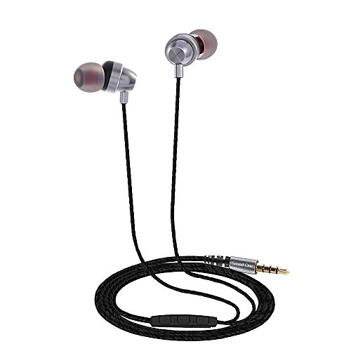 Sound One E10 In Earphones With Mic ,Metal Body With EXTRA BASS , Silver
