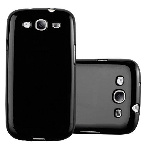 Cadorabo Hülle für Samsung Galaxy S3 / S3 NEO - Hülle in Jelly SCHWARZ – Handyhülle aus TPU Silikon im Jelly Design - Silikonhülle Schutzhülle Ultra Slim Soft Back Cover Case Bumper