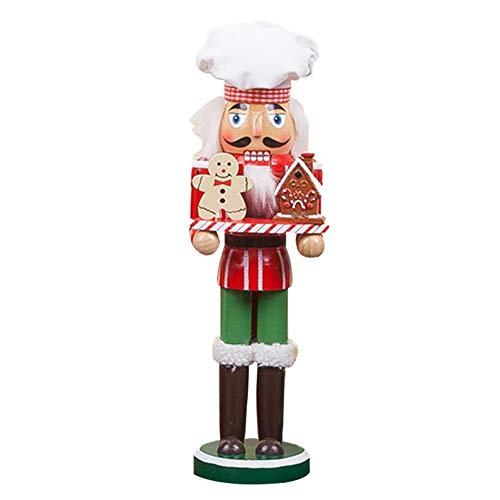"""likeitwell Weihnachten Weihnachtsmann Nussknacker - Urlaub Holz Nussknacker Weihnachtsmann Figur Home Decoration 12"""""""