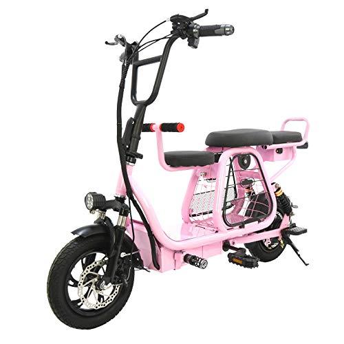 RPHP Elektrische fiets, inklapbaar, 12 inch, met mand voor huisdieren, accu voor elektrische fiets, afneembare accu voor volwassenen, scooters met 2 wielen