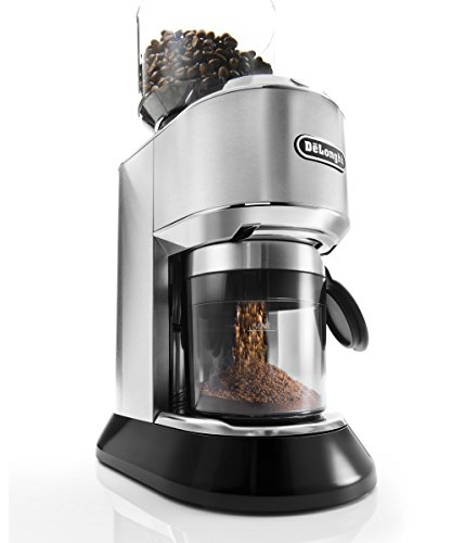 De'Longhi Dedica Conical Burr Grinder with Portafilter Attachment, 6.9 x 11.2 x 18.1 inches, Silver