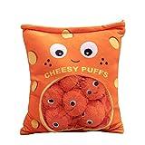 Cheesy Puffs Plush Toy, Stuffed Soft Snack Pillow Plush Puff Toy, Cushion, Delicious Food Dessert Package, Puff Cheese Puff Stuffed Toy Game Pillow (9 Balls)
