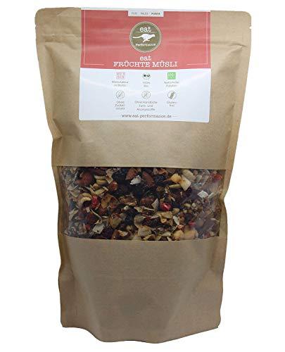 eat Performance® Früchte Müsli (1000g) - Bio, Paleo, Vegan, Glutenfrei, Ohne Zuckerzusatz, Granola Aus 100% Natürlichen Zutaten