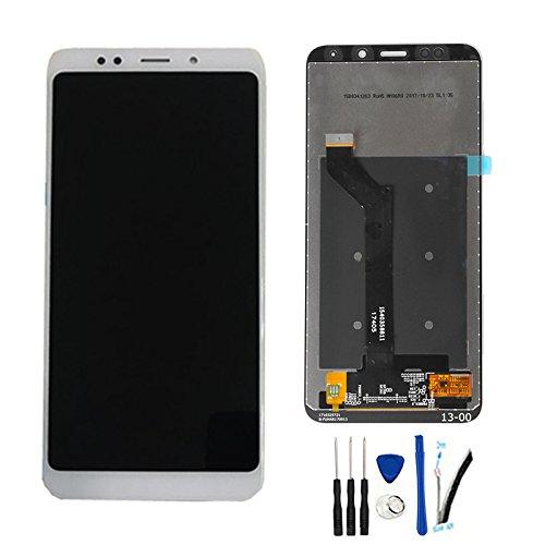 "SOMEFUN LCD Visualización Digitalizador Pantalla táctil Vidrio Panel Montaje Reemplazo para Xiaomi Redmi Note 5 / Redmi 5 Plus 5.99""(Snapdragon 625) Blanco sin Marco"