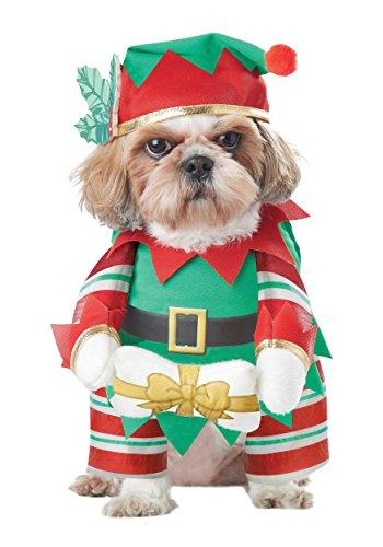California Costumes Elf Pup Costume pour Chien Vert/Rouge Taille L
