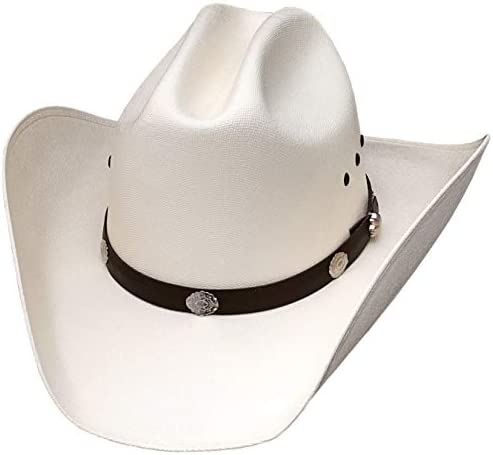 WESTERN EXPRESS Men s Classic Cattleman Off White Straw Cowboy Hat Adult Size 53 6 5 8 product image