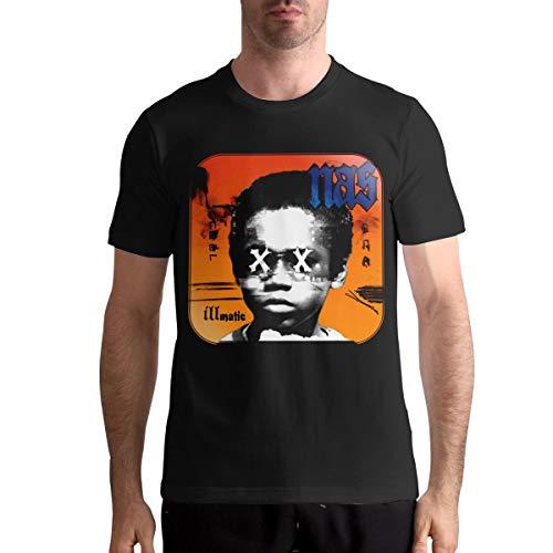 Nasty NAS Illmatic Shirt Mens Classic T-Shirt Fashion Cotton Casual Sports Top Short Sleeve Tee XXL Black