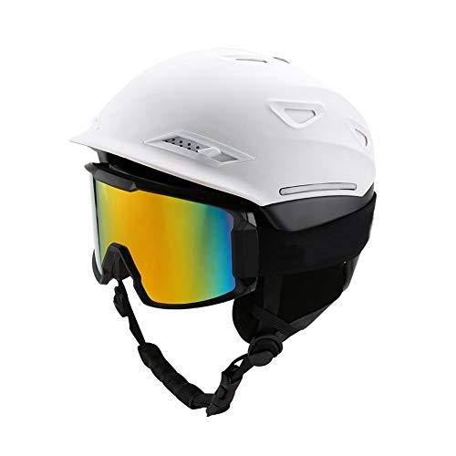 Volwassenen skihelm dames heren + skibril, anti-condens, snowboardbril voor brildragers