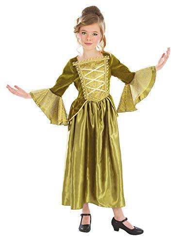 Burgfräulein Sarina Kostüm für Mädchen - Grün - Gr. 140