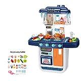 Maxiaoyun Kinderküche Spielzeug Männlich Mädchen Großes Wasser-Spray-Küche Herd Set 2 Farben Kinder Simulation Haus Kochen Küche Spielzeug Entwickeln Kinder Phantasie und Kreativität