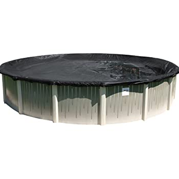 Buffalo Blizzard Deluxe Winter Cover for 16-Foot Round Above-Ground Swimming Pools | Blue/Black Reversible | 3-Foot Additional Material for Secure Installation