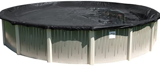 Buffalo Blizzard Economy Winter Cover for 18-Foot Round Above-Ground Swimming Pools | Blue/Black Reversible | 3-Foot Additional Material for Secure Installation