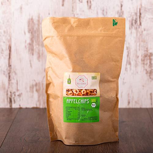 süssundclever.de® Bio Apfelchips | ohne Zuckerzusatz | aus Österreich | 500 g (2 x 250 g) | unbehandelt | plastikfrei und ökologisch-nachhaltig abgepackt