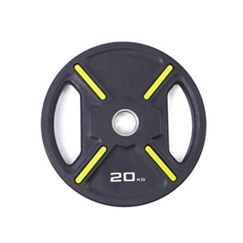 ALvis 2' Olympic Weight Plates Rubber Coated Cast Iron Weights Plates Hand Grip Hole Barbell Grip Plate PU Coated Rubber Barbell (Size : 5.5lbs*1)