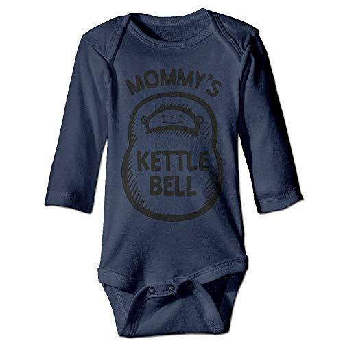 FULIYA Body de manga larga para bebé, unisex, para recién nacido, para bebé, con pesa rusa de mami, para bebés, de manga larga, traje de sol, azul marino