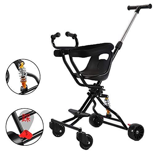 JKNMRL Trolley Plegable/Trolley para niños/Trolley Ligero con Sistema de absorción de Golpes SUV (Multicolor Opcional),Negro