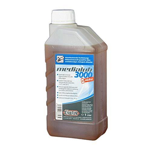 1 liter / 1 l KettLITZ-Medialub 3000 accu voor accu en elektrische zagen - biologische zaagkettingolie op waterbasis - Made in Germany