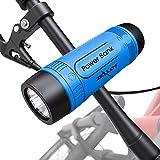 Altavoz Bluetooth con soporte para bicicleta, altavoz bluetooth inalámbrico 4000 mAh Powerbank, luz LED, autonomía de 24 horas, soporte AUX y SD, muy útil para paseos en bicicleta con solitari