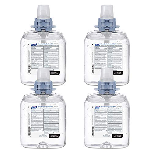 PURELL Advanced Hand Sanitizer Green Certified Gel, Fragrance Free, 1200 mL Hand Sanitizer Refills for PURELL FMX-12 Push-Style Dispenser (Pack of 4) - 5091-04