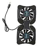 Ba30DEllylelly Ventola di raffreddamento portatile per laptop Pieghevole Pieghevole USB Dual Fan Cooler Cooling Pad per PC Laptop Notebook