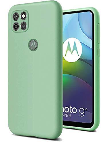 RZANTS Silicona Líquida Suave Funda Compatible con Motorola Moto G9 Power,Protección Caso Prueba de Golpes Case Protección Anticaída para Motorola Moto G9 Power Teléfono Funda (Verde)