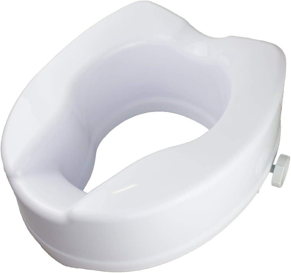 Mobiclinic, Elevador WC, Sin tapa, 14 cm, Blanco, Titán