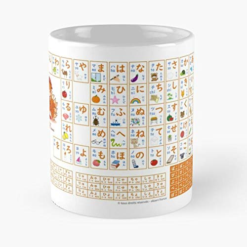 Katakana Hiragana Kawaii Japanese Japan Kanji Manga Kana Best Mug holds hand 11oz made from marble ceramic