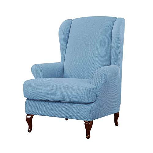HALOUK Stretch Ohrensessel Sesselbezug,Sesselschoner Sesselüberwurf Elastische Wingback Sesselhusse 2-Stück Abwaschbar Sofabezug für Ohrensessel-C