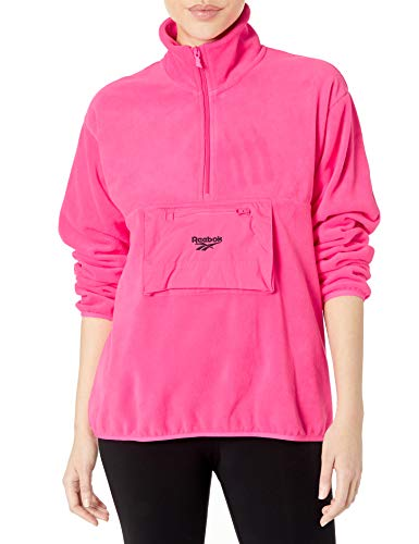 Reebok Jungen Half Zip Polar Fleece Top Halbreißverschluss, Solar Pink, XX-Large