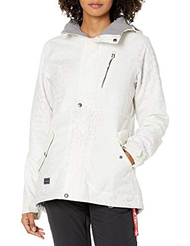 Volcom Junior's Ashler Insulated Snow Jacket, Bone Snake, XS