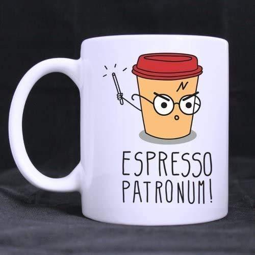 INGING North espresso patronum Image printed Custom Ceramic White Mug espresso patronum,White