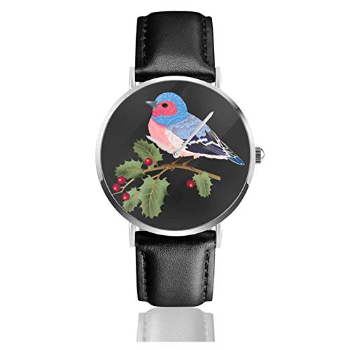 Armbanduhr Analog Quarz Ultra Dünn Business PU Leder Armband Uhren Finken