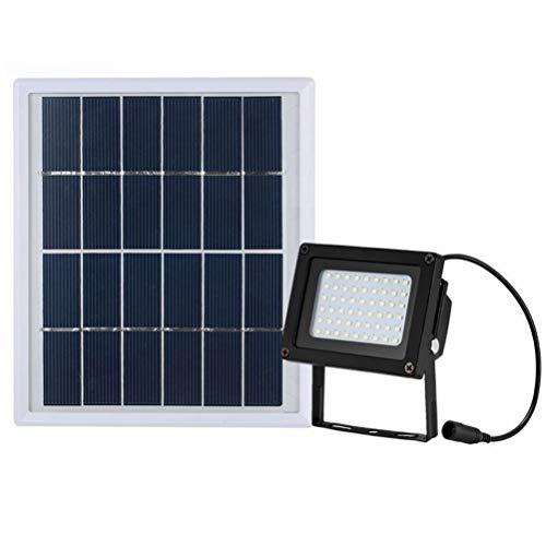 SJWR Solar-verlichting met 54 leds, voor buiten, op zonne-energie, voor tuin, binnenplaats, oprit, garage, voortuin, patio, auto-inductie 's nachts