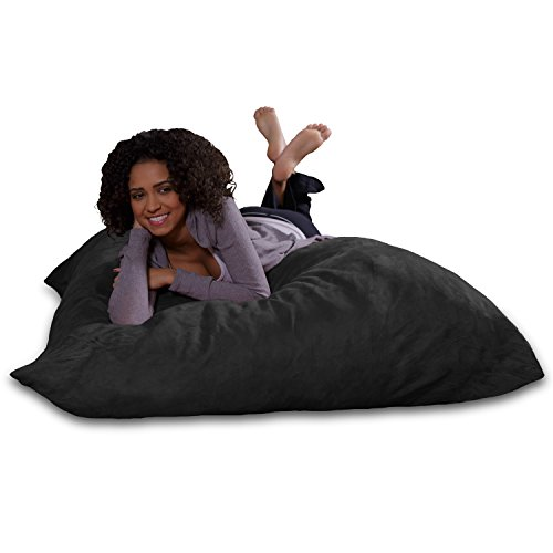 Sofa Sack - Plush, Ultra Soft Bean Bag Chair - Memory Foam Bean Bag Chair with Microsuede Cover - Stuffed Foam Filled Furniture and Accessories for Dorm Room - Charcoal