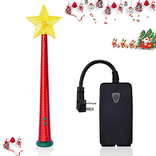 Wireless Remote Control Outlet with Magic Wand, Wireless Remote Switch for Christmas Tree and Decorative Indoor/Outdoor, Good Christmas Gift for Kids, Friends, Family