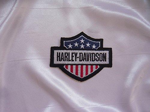 Harley Davidson Iron-On Patch 11.5 x 2.5 cm Eagle Skull MC Shield Motorcycle Club