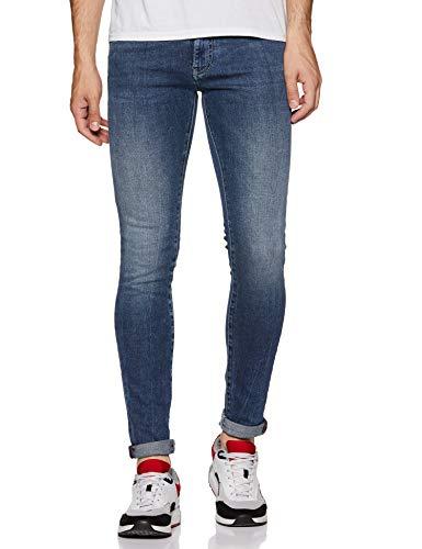 Gas Jeans Sax Zip Vaqueros Skinny, Azul (Wk79 Wk79), 42 (Talla del Fabricante: 30) para Hombre