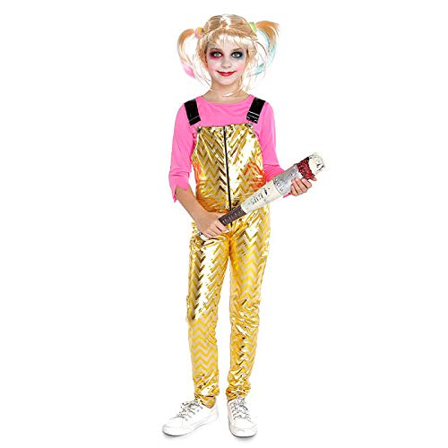 Disfraz Crazy Harlequin Dorado Niña Cosplay 7-9 años (+Tallas) Cine y TV