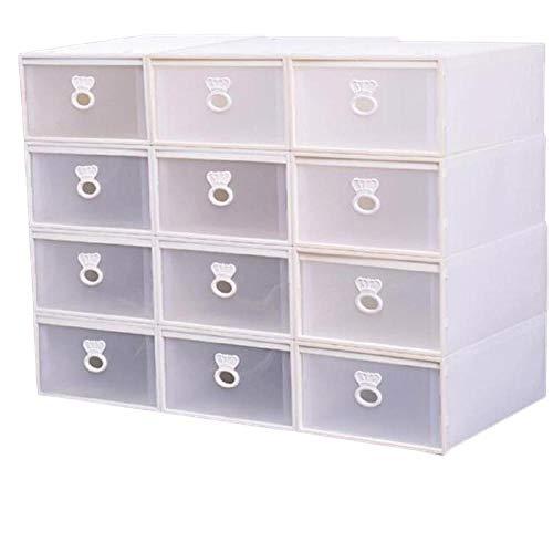 Itreser Schuhkarton Aufbewahrungsbox 20 Stück Schublade Typ Dicker Kunststoff Große Transparente...