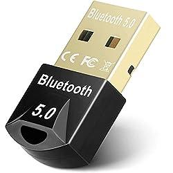 Adaptateur Bluetooth 5.0: Dongle USB Bluetooth applique le dernier adaptateur Bluetooth 5.0 + EDR, basse consommation Bluetooth. Avec la prise en charge du débit de données amélioré (EDR), il a considérablement amélioré le taux de transmission de don...