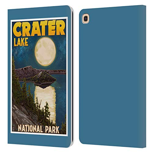 Official Lantern Press Crater Lake National Park Leather Book Wallet Case Cover Compatible For Galaxy Tab A 8.0 & S Pen 2019