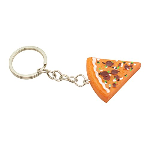 Verlike Assortiti a Forma di Fetta di Pizza Anello Portachiavi Auto in Borsetta Phone Car Key Holder, Lega, Multi