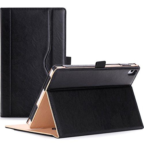 ProCase Hülle für Lenovo Tab 4 8 Plus Android Tablet(TB-8704F)- Stand Folio Case Cover, mit Mehreren Blickwinkel, Auto Sleep/Wake, Dokumentenkarte Pocket (Schwarz)