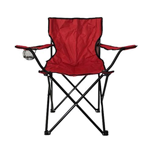 Natural Logistics Silla para Camping Plegable con portavasos, roja. Kottao